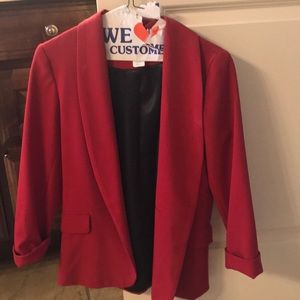Red Women's Blazer